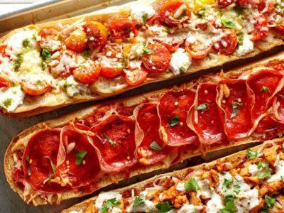 Pizza com pão