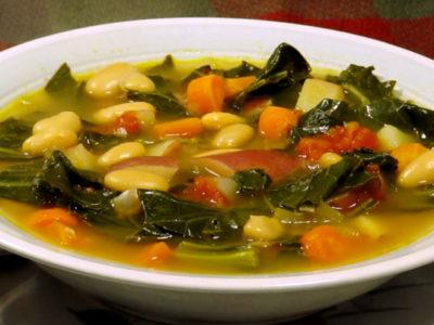 Sopa de Feijão branco e couve